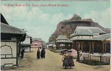 EXHIBITION : 1910 JAPAN-BRITISH-A Street Scene in Fair Japan -VALENTINE'S