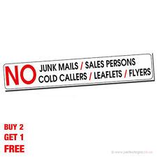 Unbranded Vinyl No Junk Mail Decorative Plaques & Signs
