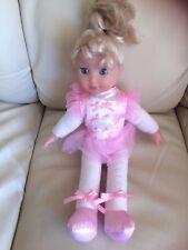 """Dollsworld little ballerina soft body,plastic hands,face,blue eyes,long hair 12"""""""
