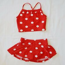 Hanna Andersson Girls Tankini Swim Skirt Set sz 90