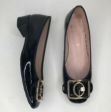 Pretty Ballerinas black block heels shoes size 8 / 38 leather