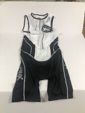 New Sparx Men's Triathlon Suit Black White Size XL Cycling, Swimming, Running