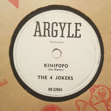 The 4 Jokers Kinipopo/Crazy Red Shoes Argyle Rr-22664/5 Novelty R&B Pop Hear