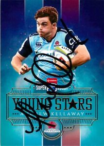 ✺Signed✺ 2017 NSW WARATAHS Rugby Union Card ANDREW KELLAWAY Young Stars