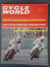 1967 JUNE CYCLE WORLD MAGAZINE KAWASAKI AVENGER BULTACO PURSANG TRIUMPH HONDA