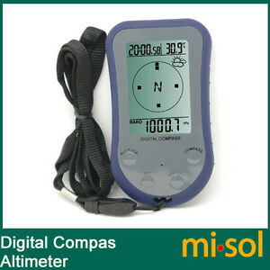 10 units of Digital LCD Compass Altimeter Thermometer Barometer water proof