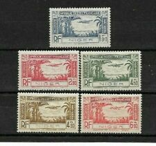 Complete series 5 Mint stamps*  French colony NIGER 1940. Air Mail       (7232)