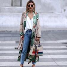 Vintage Women Floral Long Kimono Coat Jacket Long Sleeve Cardigan Outerwear M2D7