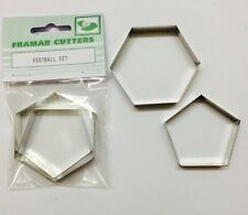 Cake Decorating Metal Football Set by Framar Cutters - 8 Inch