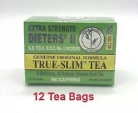 Bamboo Leaf EXTRA STRENGTH Dieters' II True-Slim Tea - Malva Verticellata 12 Bag