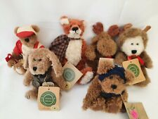 Lot of 6 Boyds Retired Bearwear Plush- Reggie Foxworthy, Boris, Ansel, Indy, ...