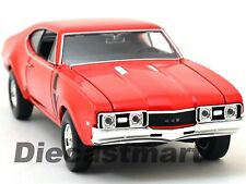 1968 OLDSMOBILE 442 RED 1:24 DIECAST CAR MODEL BY WELLY 24024 NEW