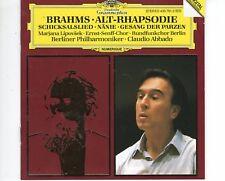 CD  CLAUDIO ABBADOBrahms - alt-rhapsodieDG NEAR MINT   (A1305)