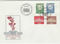 Switzerland 1962 UN Museum Palace of Nations ONU Slogan FDC Stamps CoverRf25422