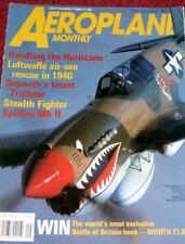 Avión Mensual Revista 1990 Septiembre Hurricane, Latacoere, DH50, F-117, Buchon