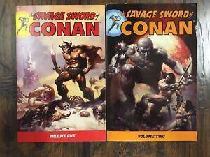 Savage Sword of Conan Volume 1 and 2 - Dark Horse TPB