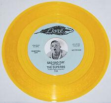 Sweet Soul 45~THE SUPERBS~Sad Day / My Heart Isn't In It~Dore Yellow WAX