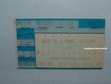 Ozzy Osbourne / Anthrax Concert Ticket Stub 1988 Long Beach Ca Arena Very Rare