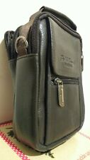 Mens Womens Soft  Leather Travel Cross Body / Shoulder Bag / Pouch New 7*5.5*2""