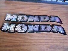 "Quantity 2 NOS Vintage Honda Decal Sticker 8.75"" Black Reflective CT70 ST90"