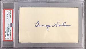 George Halas Signed Index Card NFL Football HOF Autograph Chicago Bears PSA/DNA
