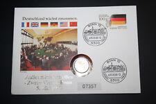Numisbrief Deutschland wächst zusammen mit 50 Pfennig. Stempel 05.05.1990 (847)