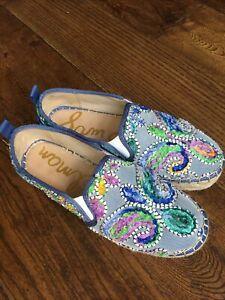 Sam Edelman Size 7 Carrin Embroidered Espadrilles