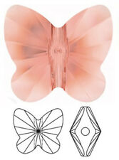ONE SWAROVSKI CRYSTAL BUTTERFLY BEAD / PENDANT 5754, BLUSH ROSE, 10 MM