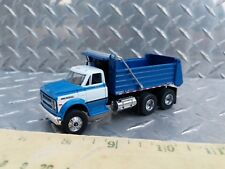 1/64 custom construction Chevrolet c60 blue white dump truck farm toy dcp