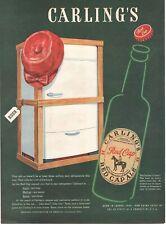 1947 Original Vintage Carling'S Ale ( Beer) Magazine Ad