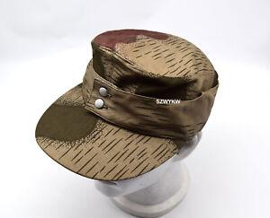 REPLICA WWII WW2 GERMAN ARMY ELITE M43 SPLINTER CAMO B HAT FIELD CAP 59cm