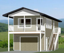16x36 House -- 1 Bedroom  -- PDF Floor Plan -- 744 sq ft -- Model 10A