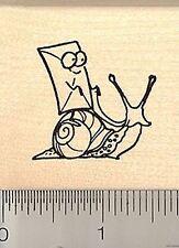 Cutest little snail mail rubber stamp EVER! D8804 WM