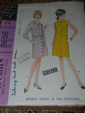 1967 McCALL'S #8658 - LADIES RETRO TWO STYLE BUTTON DOWN COAT DRESS PATTERN 16