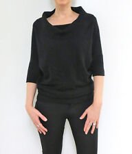 OONAGH by NANETTE LEPORE women's cowl neck pure cashmere sweater, size S, Black