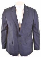 AQUASCUTUM Mens 2 Button Blazer Jacket Size 44 2XL Blue Wool Slim Fit  JQ29