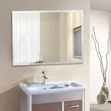 Bathroom Bevelled Edge Mirror Glass Wall Mount Portrait or Landscape 2018 Design
