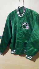 Vintage New York Jets NFL Football Satin Snap Jacket Coat Mens Size Medium Green