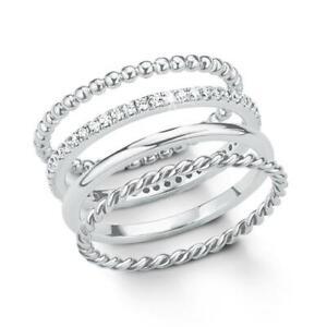 Ring Set für Damen von s.Oliver aus 925er Silber mit Zirkonia