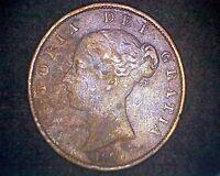 1854 GREAT BRITAIN HALF PENNY 1/2 PENNY KM#726 INV#17794
