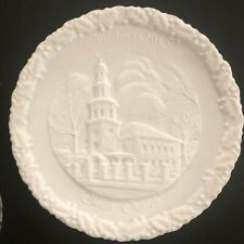 Fenton Christmas in America Plate #11 White Christmas 1980 Vintage Collectible