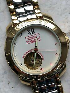 Benetton by Bulova Automatic Armbanduhr mit Edelstahl- Armband- bitte lesen!