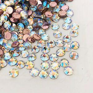 Swarovski Hotfix <Choose Size> Crystal Shimmer effect Rhinestones Diamantes gems