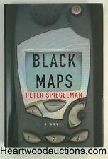 BLACK MAPS by Peter Spiegelman SIGNED FIRST 2004 Shamus Award for Best First P.