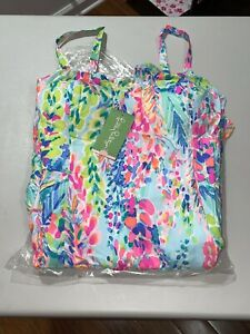 Lilly Pulitzer Women's Morgana Dress Multi Catch The Wave Size 14