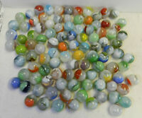10864m Vintage Group or Bulk Lot of 100 Mostly Vitro Agate Marbles .59 to .71 In