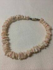 Shell Anklet Light Pink Puka