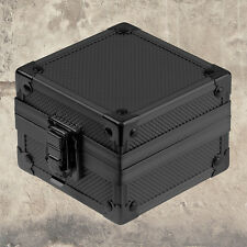 Gift Fashion Black Metal Watch Box Jewelry Storage Display Case Holder