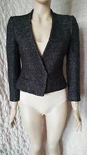 Isabel Marant Etoile melange 100% wool boucle tweed jacket blazer size 3