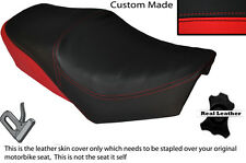 BLACK & BRIGHT RED CUSTOM FITS YAMAHA SPECIAL SR 250 DUAL LEATHER SEAT COVER